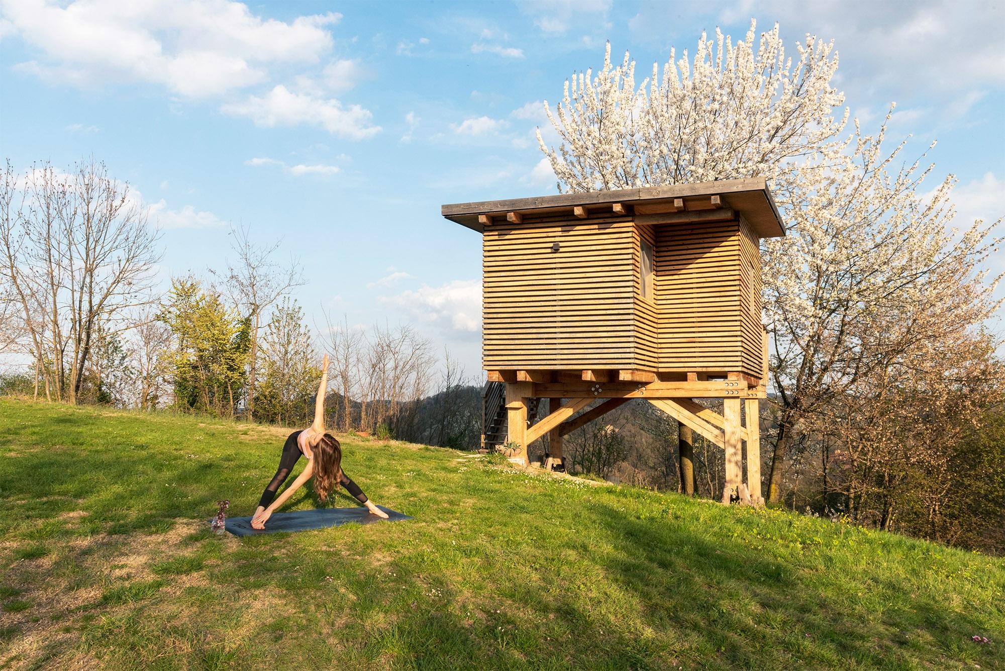Relax e benessere all'Agriturismo Parco del Grep - Monferrato, Piemonte - Casa sugli alberi I Ciliegi